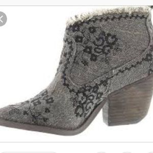Naughty Monkey Tapestry Boots